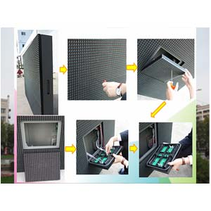 P16 DIP Outdoor Front Access LED Screen Board